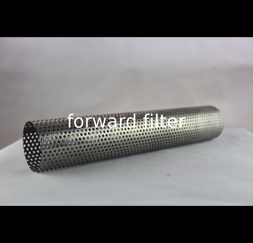 Powder Coating Perforated Steel Pipe , 201 316L Perforated Stainless Pipe