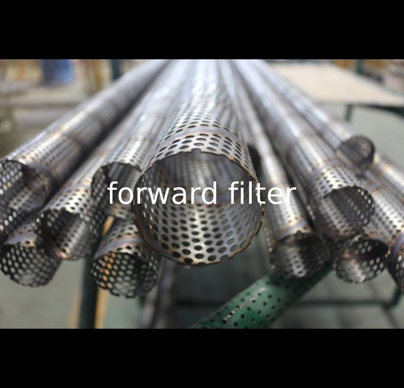 Stainless Steel Spiral Perforated Tube , Perforated Metal Pipe 316L 304 ASTM